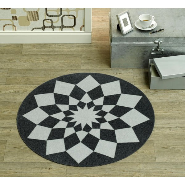 Detský sivý koberec Zala Living Geometry, ⌀100cm