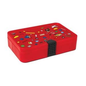 Červený úložný box s priehradkami LEGO® Iconic