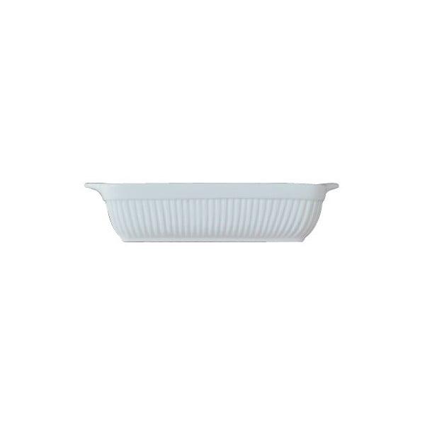 Biela kameninová zapekacia misa BergHOFF Bianco, 38 x 31 cm