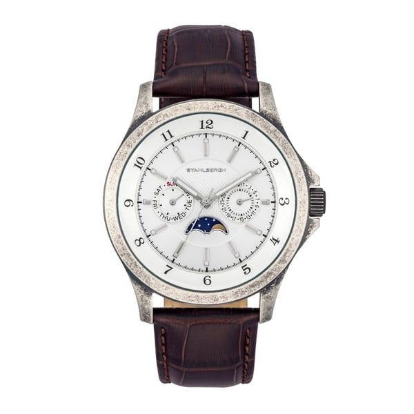 Pánske hodinky Harstad Moonphase Dark Brown