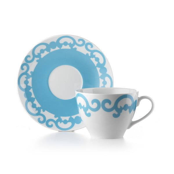 Hrnček s tanierikom Arabesco Blue
