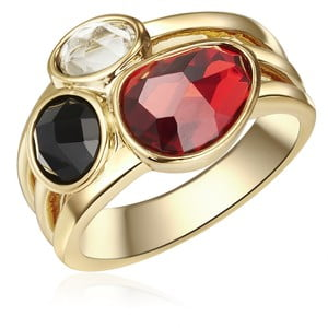 Dámsky prsteň zlatej farby Tassioni Queen, 52