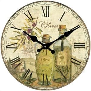 Sklenené hodiny Olivy, 34 cm