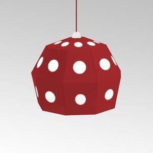 Kartónové svietidlo Uno Fantasia B Red, s červeným káblom