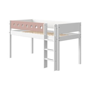 Ružovo-biela detská posteľ Flexa White, výška 120 cm
