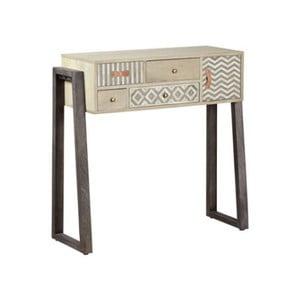 Konzolový stolík z masívneho mangového dreva Woodjam Doyle, šírka 90 cm