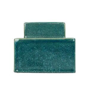 Modrá kameninová dóza HF Living, výška 12,5 cm
