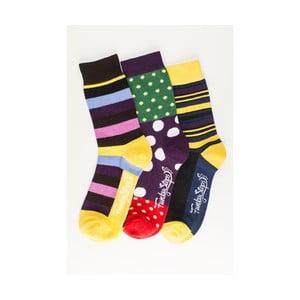 Sada 3 párov unisex ponožiek Funky Steps Fronia, veľkosť 39/45