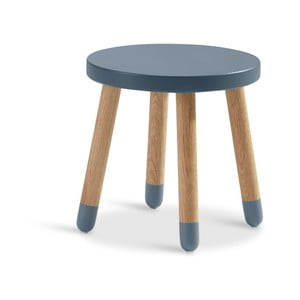 Modrá detská stolička Flexa Play, ø 30 cm