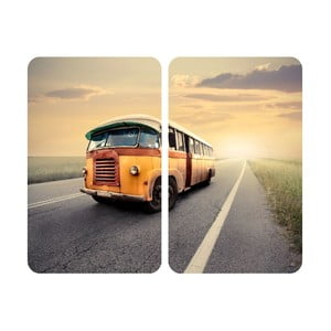 Sklenený kryt na sporák Bus, 2 ks