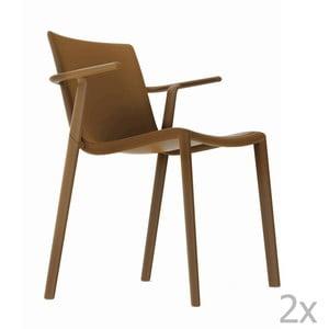 Sada 2 hnedých záhradných stoličiek sopierkami Resol Kat