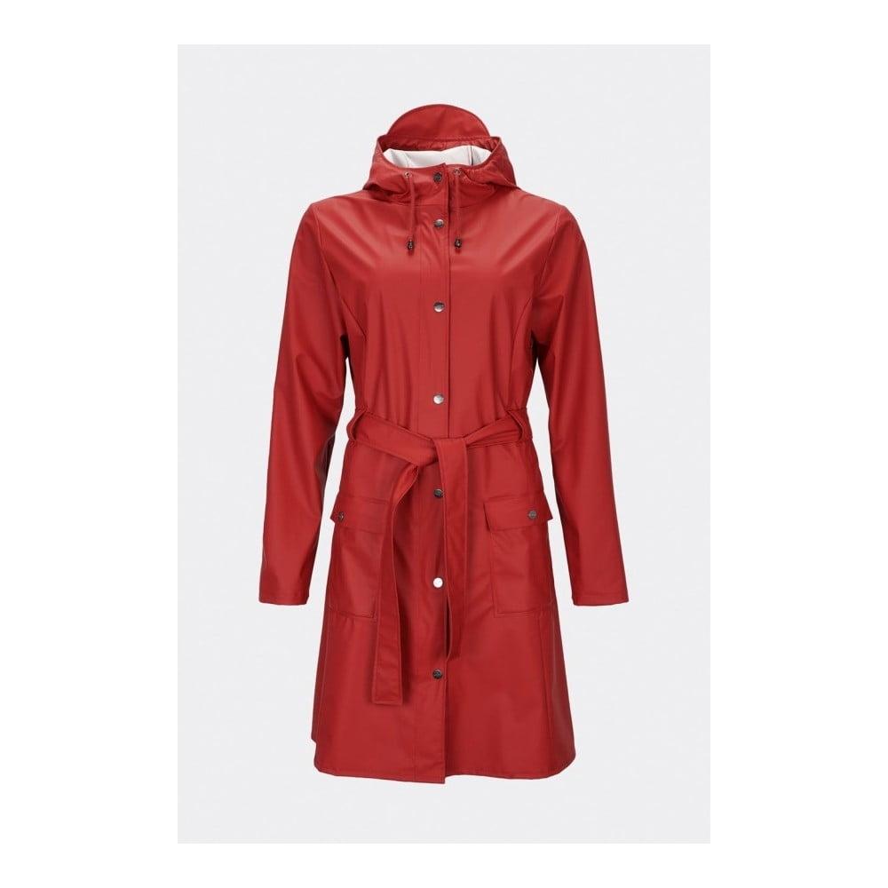 Tmavočervený dámsky plášť s vysokou vodeodolnosťou Rains Curve Jacket e5ae8214a9a