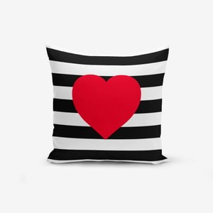 Obliečka na vankúš Minimalist Cushion Covers Navy Heart, 45 × 45 cm