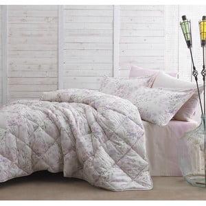 Prikrývka s plachtou Marie Claire Romantic Flowers, 155x215 cm