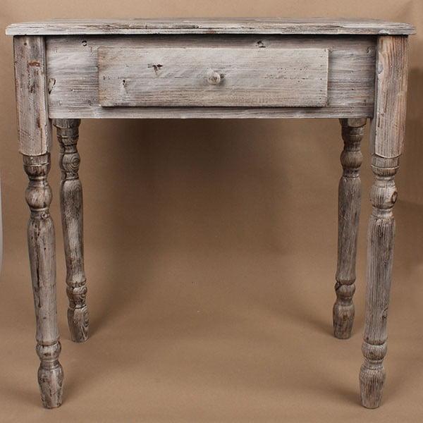 Drevený stôl so zásuvkou Grey Days, 74x78 cm