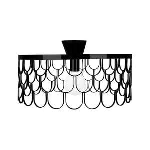 Čierne stropné svietidlo Globen Lighting Gatsby, ø 50 cm