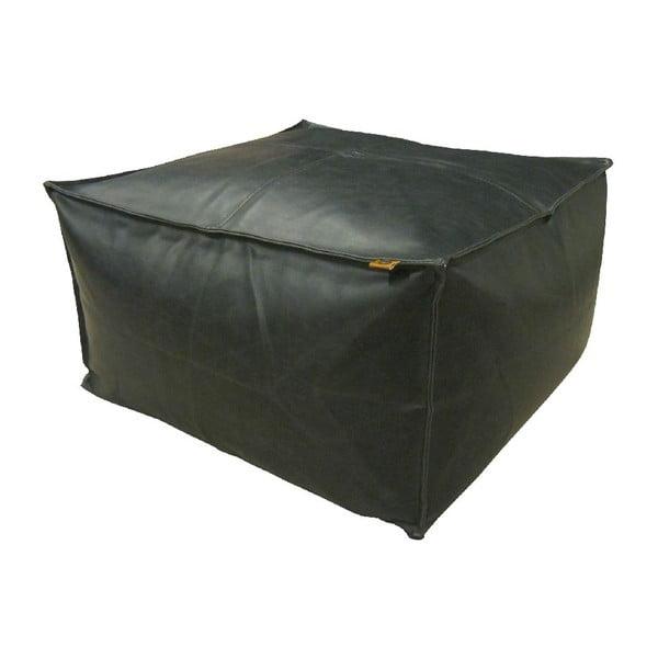 Čierny puf OVERSEAS Hocker Vintage, 60x60cm