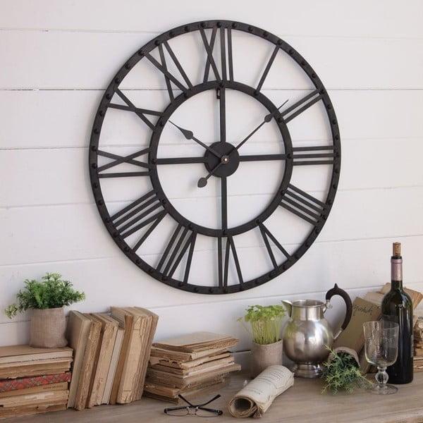 Nástenné hodiny Orchidea Milano Industrial Rusty Black, 70 cm