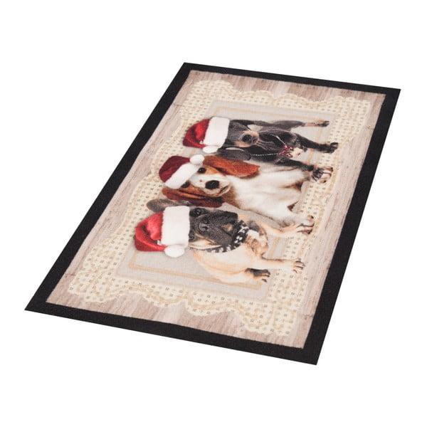 Rohožka Zala Living Christmas Dogs II, 45×75cm