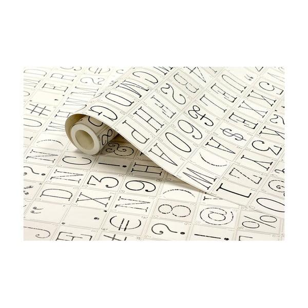 Tapetová rolka Písmo, 53x1005 cm