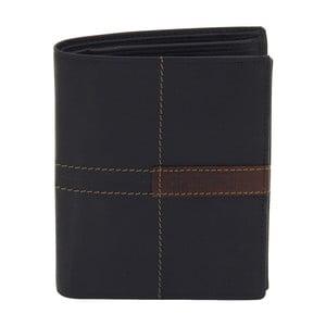 Čierna kožená peňaženka Friedrich Lederwaren Cross Stitch