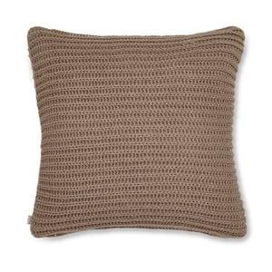 Hnedá pletená obliečka na vankúš Catherine Lansfield Knit, 45×45 cm