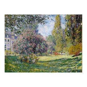 Obraz Claude Monet - Landscape The Parc Monceau, 80x60 cm