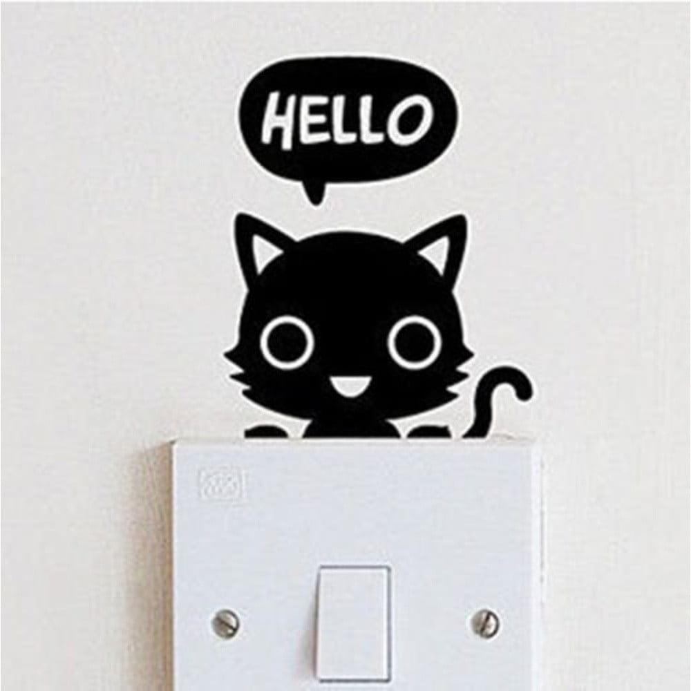 Dekoratívna samolepka na stenu Hello Catty