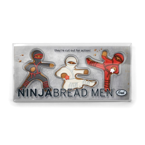 Sada 3 formičiek Fred & Friends Ninja Bread Men