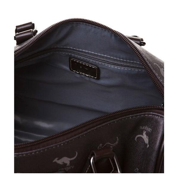 Kožená kabelka do ruky Canguru Kangaroo, hnedá