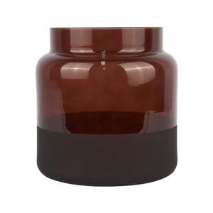 Hnedá sklenená váza PT LIVING Majestic, ⌀ 15 cm