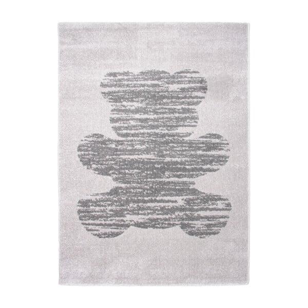 Detský sivý koberec Nattiot Teddy, 120×170cm