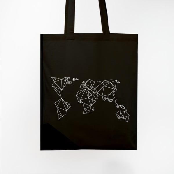Plátená taška Geometrische Erde Black