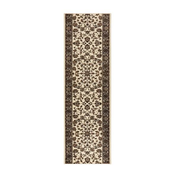 Koberec Basic Vintage, 80x250 cm, krémový