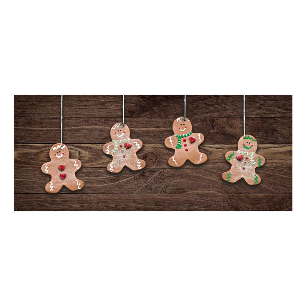 Vysokoodolný behúň Webtappeti Natale Gingerbreads, 60 × 150 cm