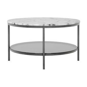 Mramorový odkladací stolík so sivou konštrukciou RGE Ascot, ⌀ 85 cm
