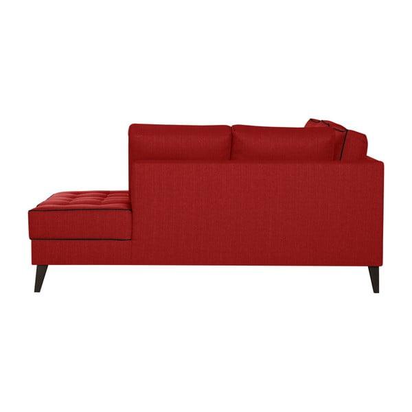 Červená pohovka s čiernymi detailmi Stella Cadente Maison Atalaia, pravý roh
