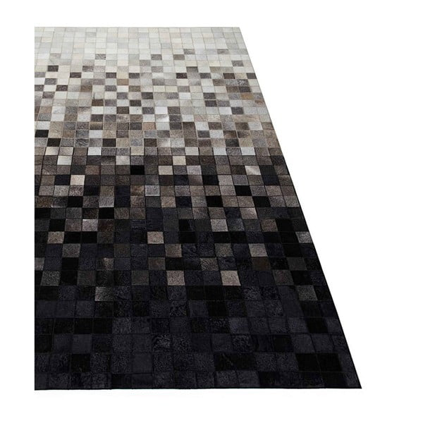 Koberec z pravej kože Sao Paulo Black, 200x300 cm