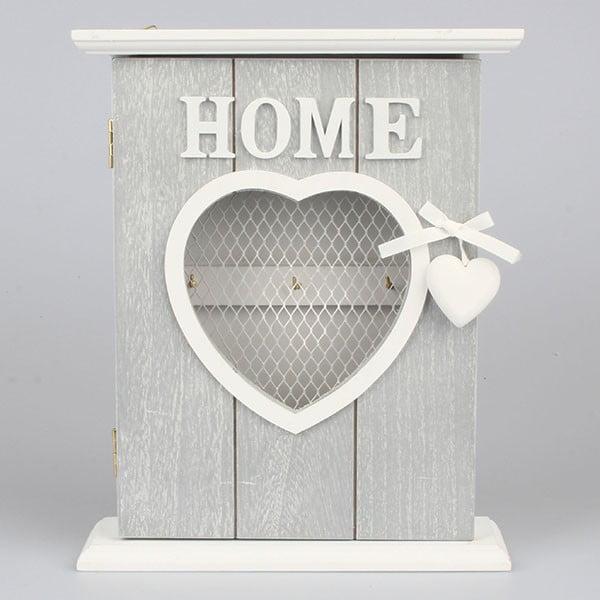 Vešiak na kľúče Home Love, sivý