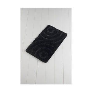Čierna kúpeľňová predložka Confetti Bathmats Wave Ecru, 60 x 100 cm
