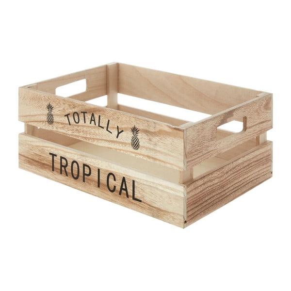 Drevený úložný box Premier Housewares Tropical, 25×35 cm