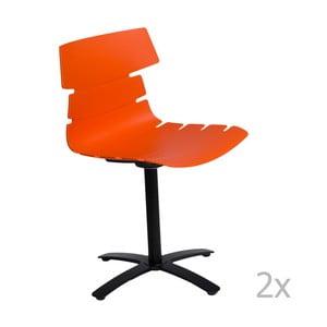 Sada 2 stoličiek D2 Techno One, oranžové