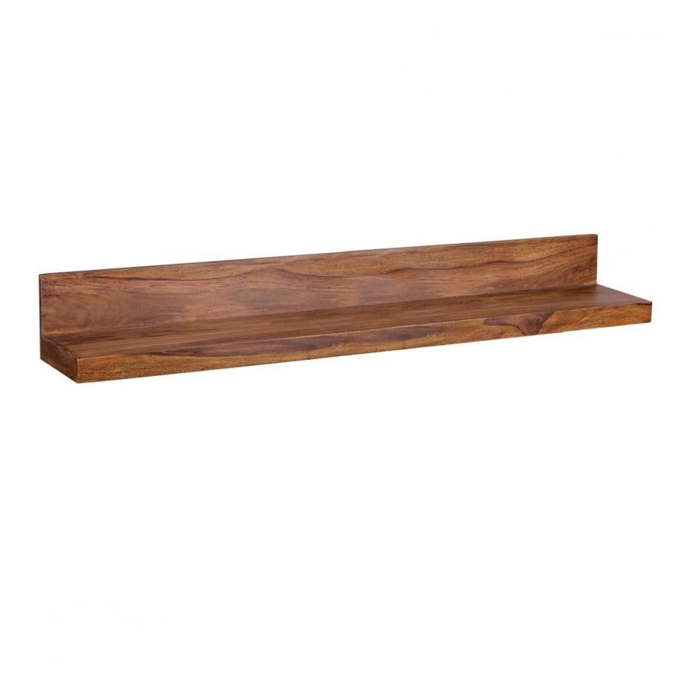 Polica z masívneho palisandrového dreva Skyport Alana, dĺžka 140 cm