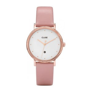 Dámske hodinky s ružovým koženým remienkom Cluse Le Couronnement