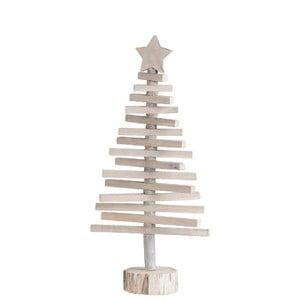 Vianočná dekorácia drevený stromček J-Line, výška 52 cm