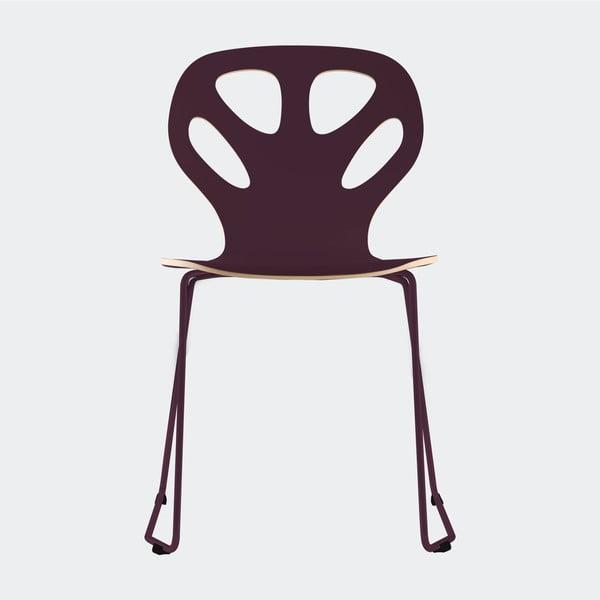 Stolička Maple, bordová