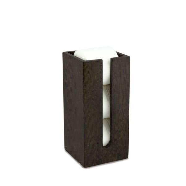 Zásobník na toaletný papier z dubového dreva Wireworks Mezza Dark