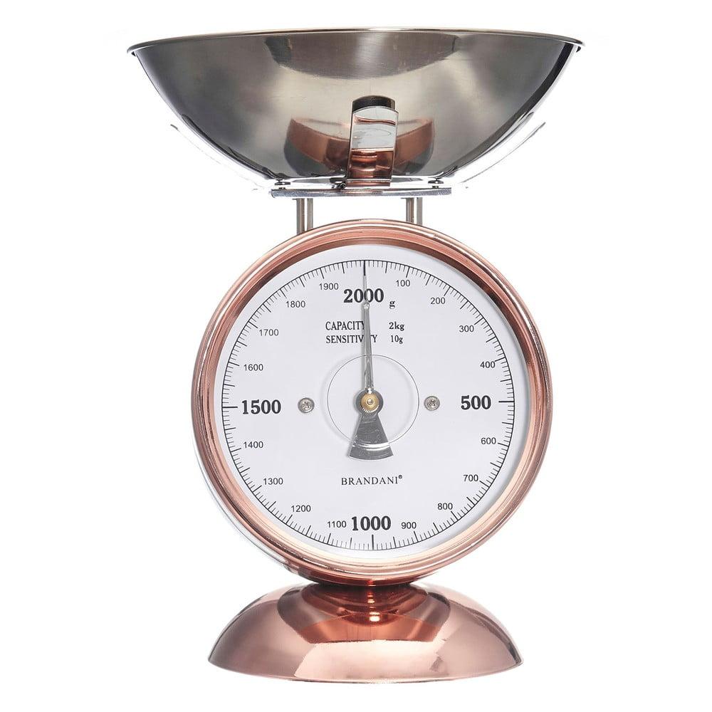 Kuchynská váha z antikoro ocele Brandani Rose Gold