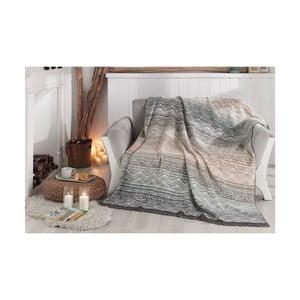 Deka s prímesou bavlny Aksu Luz, 220 × 180 cm