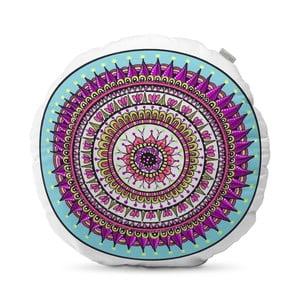 Fialový vankúš HF Living Mandala, ⌀ 50 cm